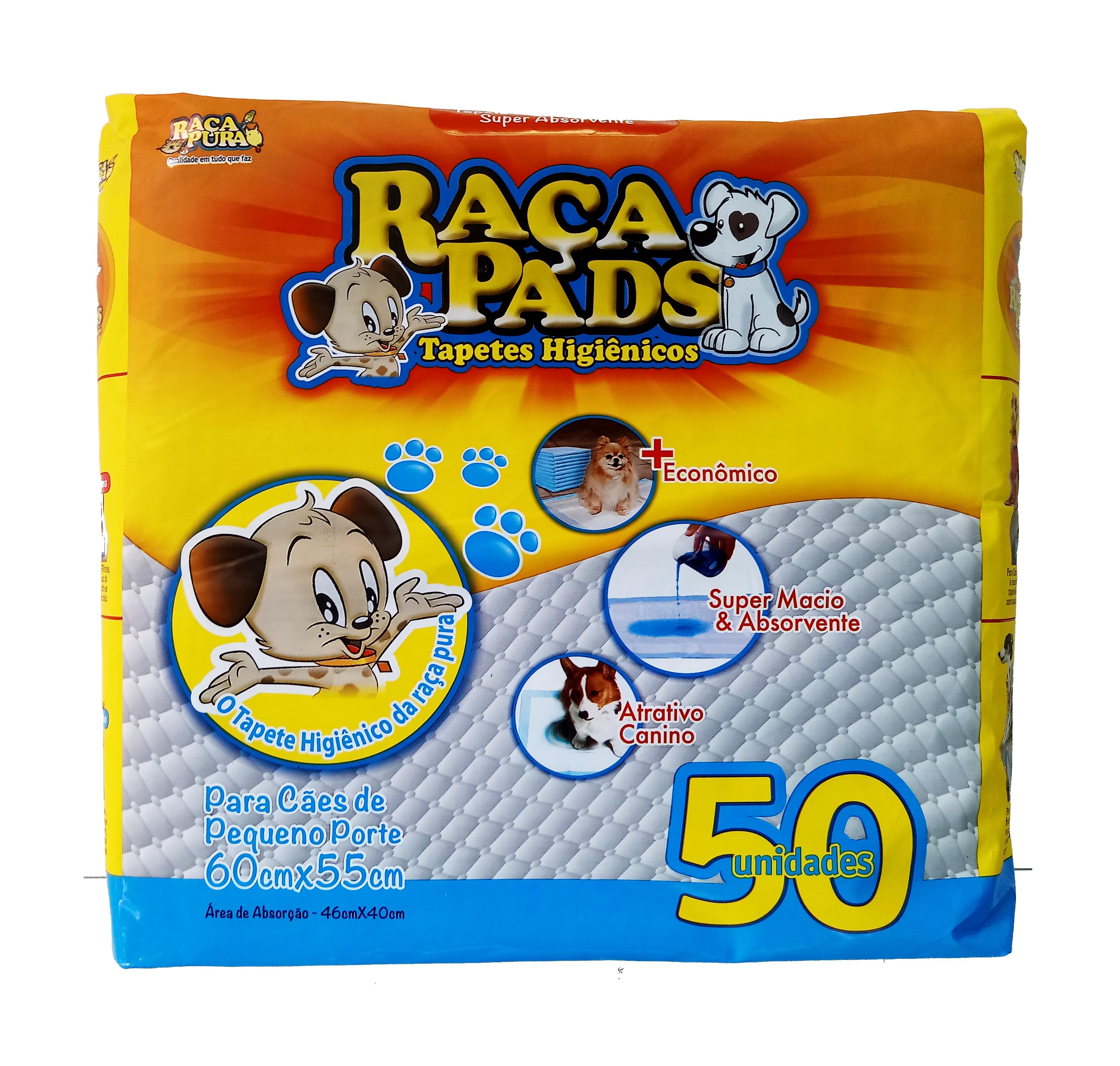 TAPETE HIGIÊNICO RAÇA PADS C/ 50 UN