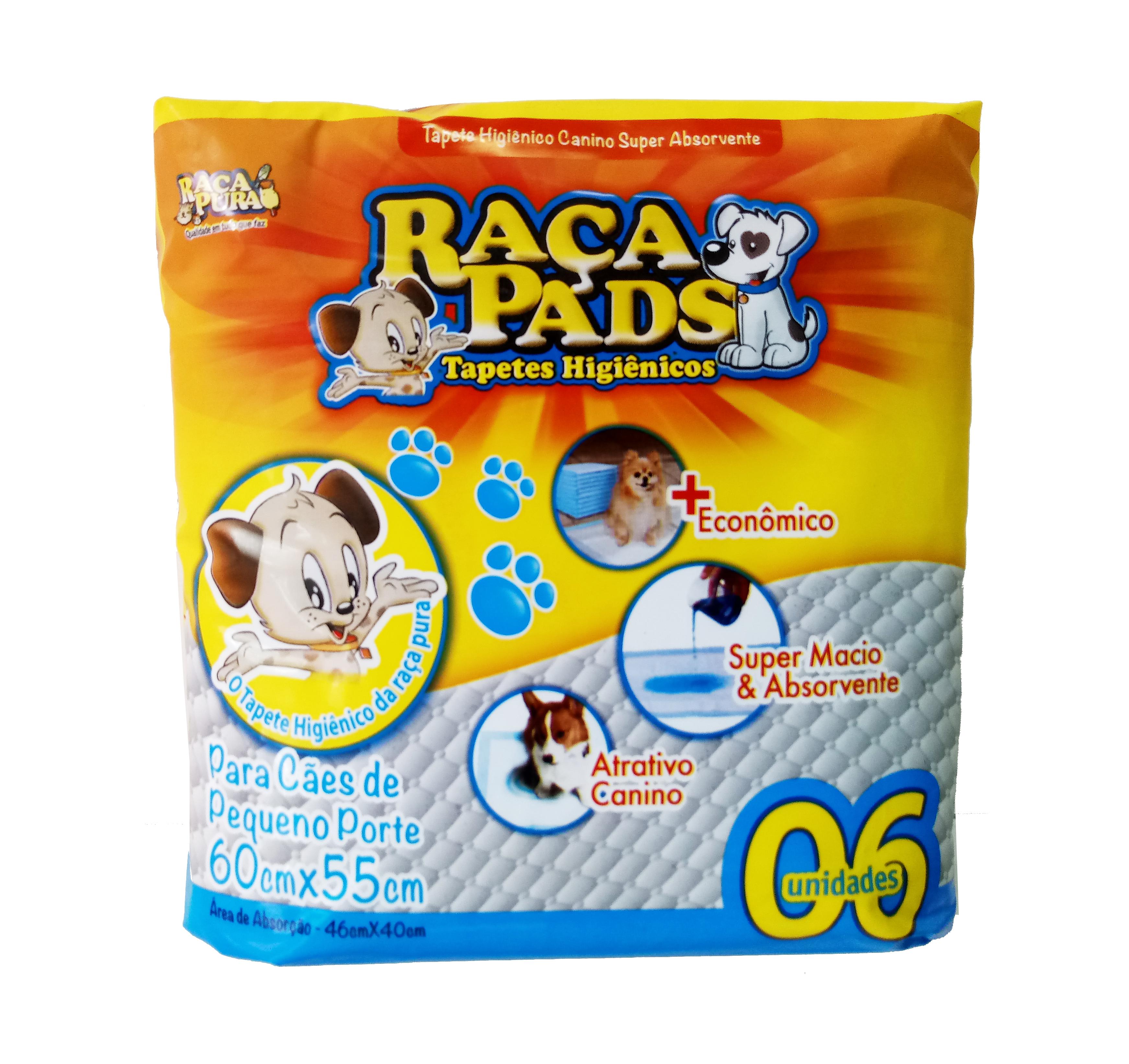 TAPETE HIGIÊNICO RAÇA PADS C/ 06 UN